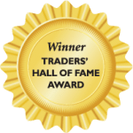 Winner Traders' Hall of Fame Award
